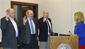 Cumberland County Commissioner's being sworn in.