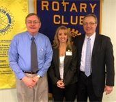 County Manager Peter Crichton and District 1 Commissioner Neil Jamieson at the Bridgton-Lakes Region Rotary Club meeting.