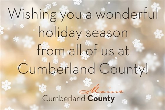 Wishing you a wonderful holiday season from all of us at Cumberland County!