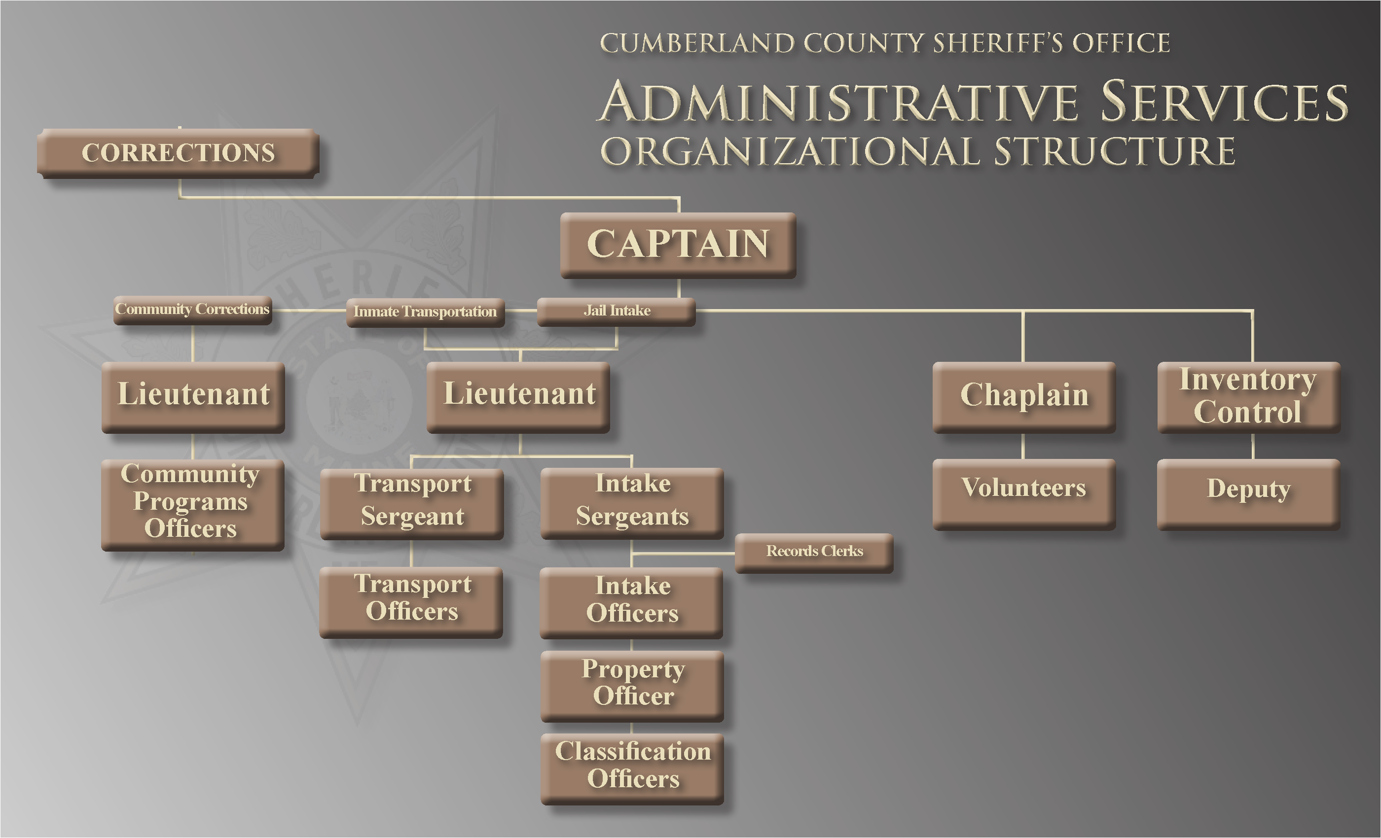 Administrative Services Organizational Structure Chart