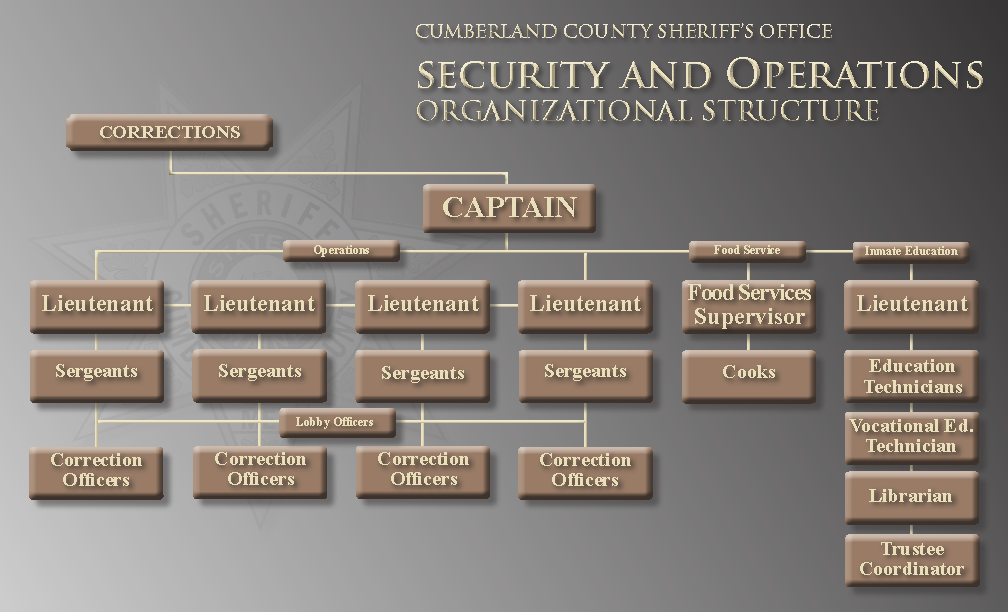 Security and Operations Organizational Structure Chart
