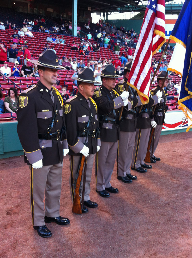 Sheriff's Department Honor Guard at Fenway Park